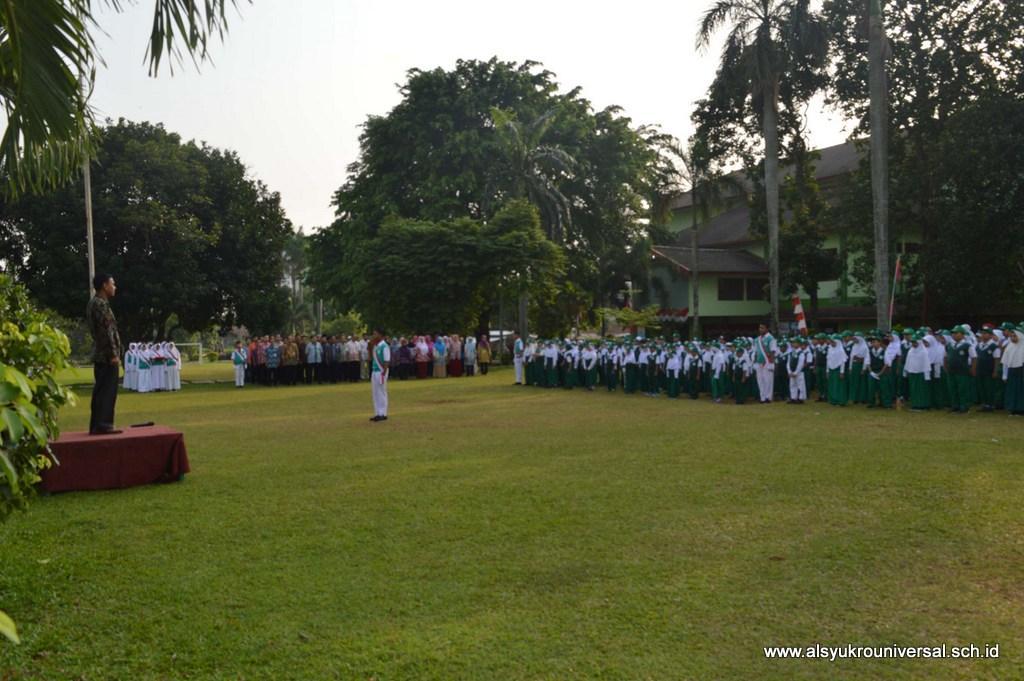 Upacara HUT RI Ke-72 di Lapangan Perguruan Islam Al Syukro Universal