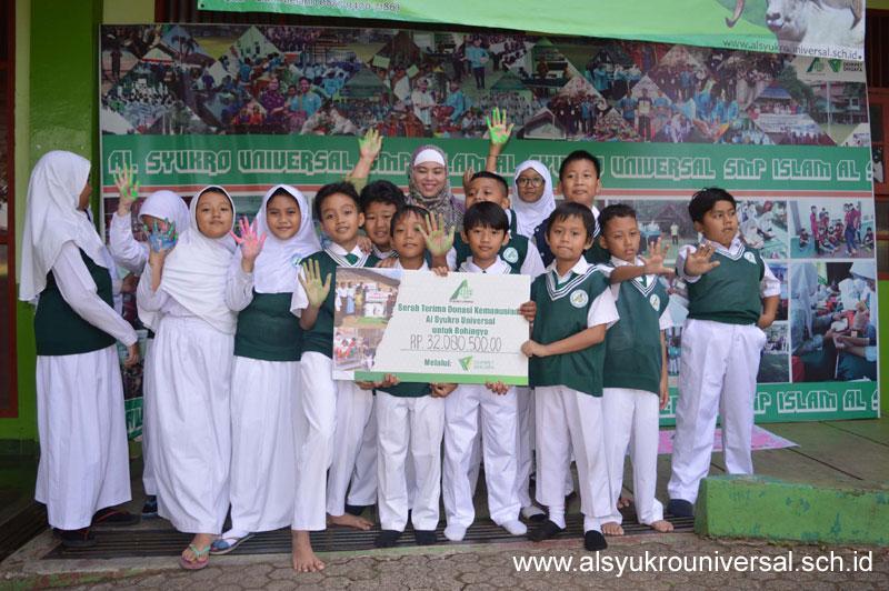 Donasi Al Syukro untuk Rohingya