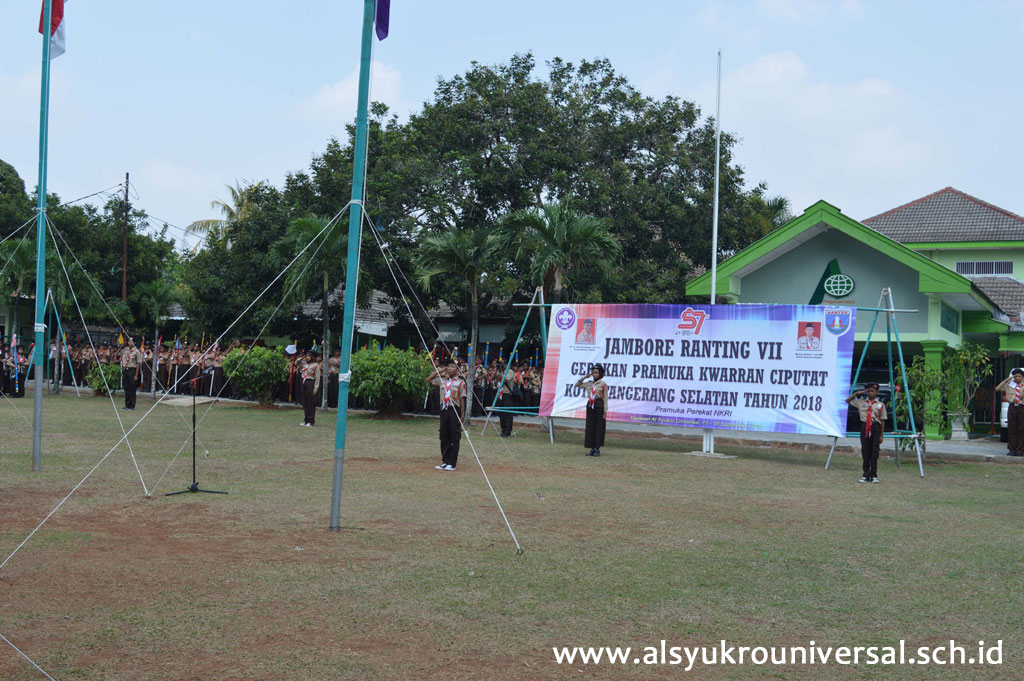 Pramuka Kwaran Ciputat Gelar Jambore di SD Islam Al Syukro Universal