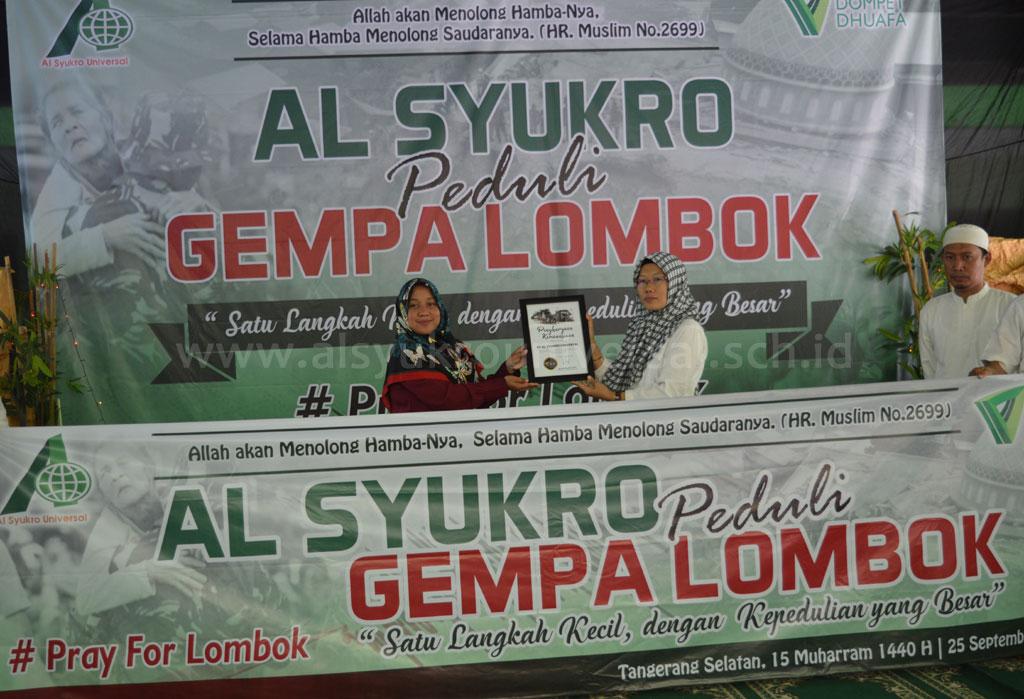 Al Syukro Peduli Gempa Lombok