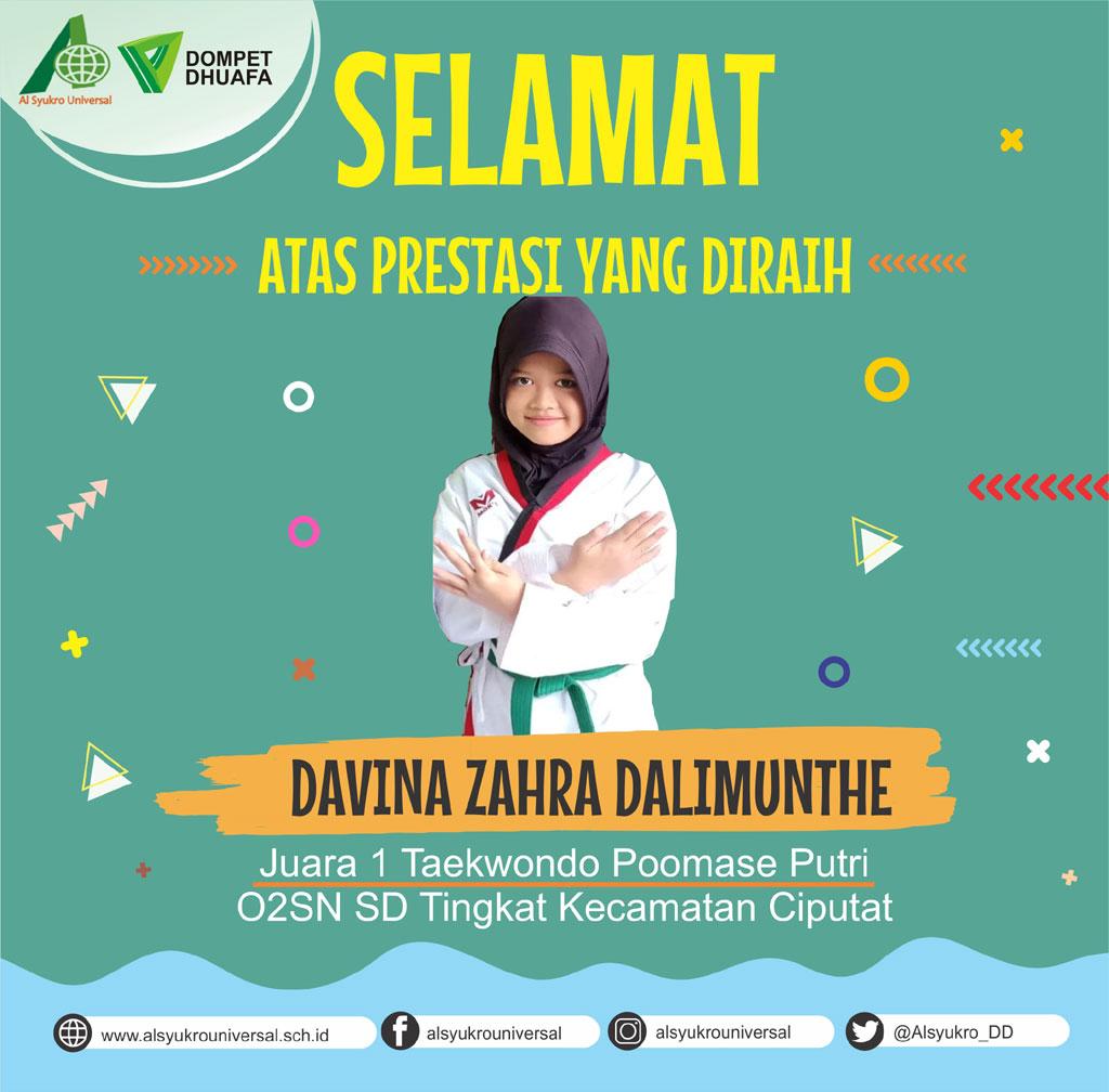 Juara 1 Taekwondo Poomase Putri